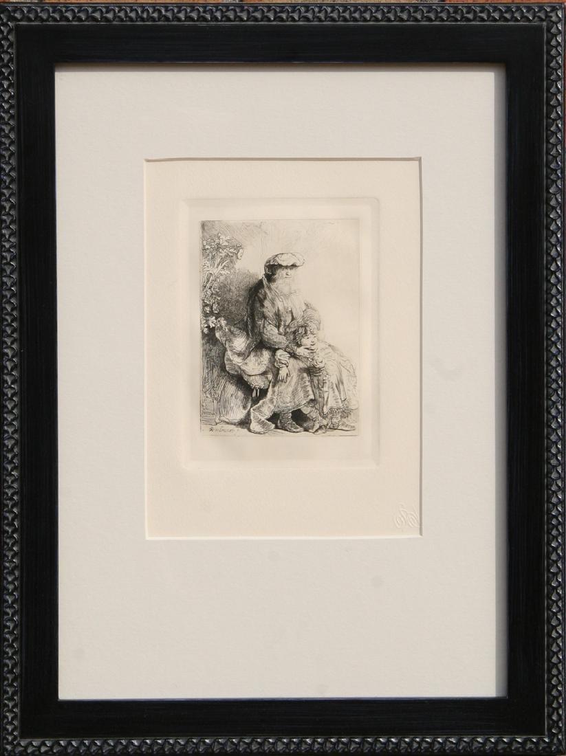 Rembrandt van Rijn, Jacob Caressing Benjamin, Etching