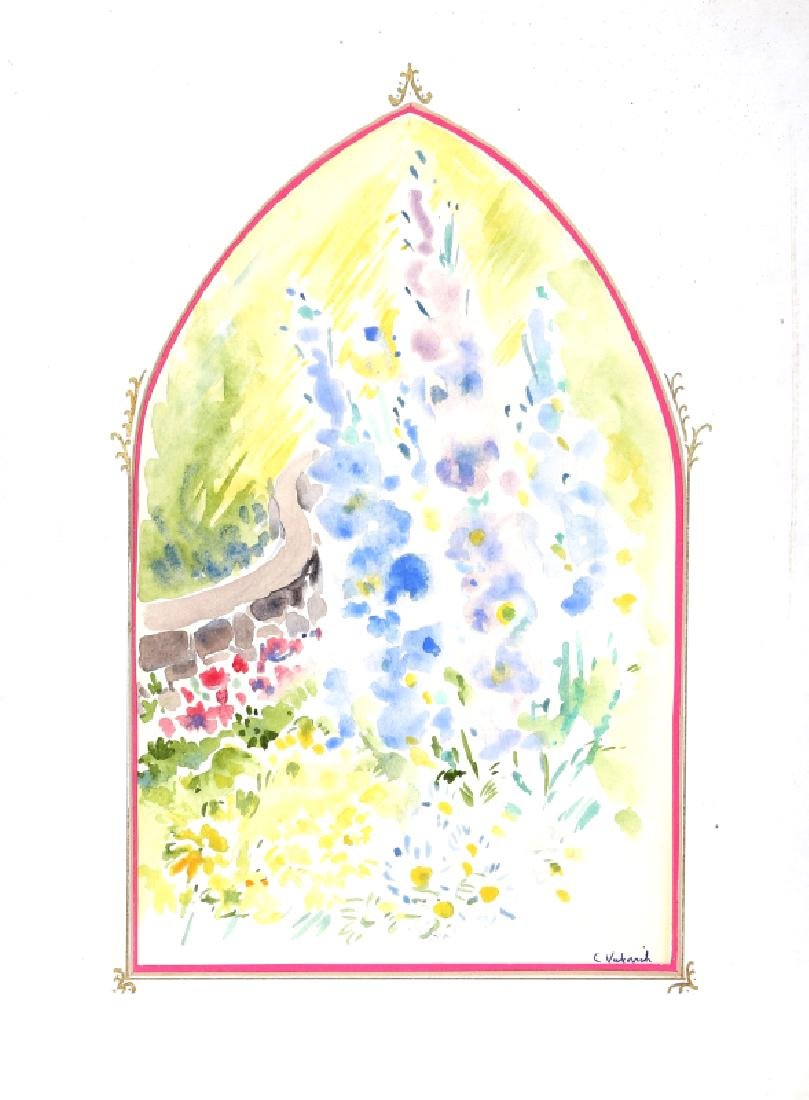 Charles Blaze Vukovich, Spring Flowers, Watercolor on