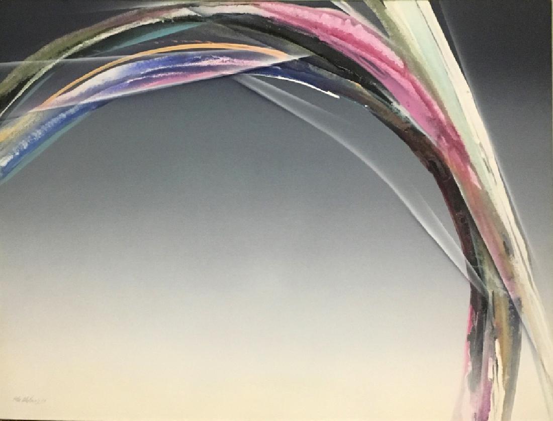 Elba Alvarez, Action, Acrylic Painting