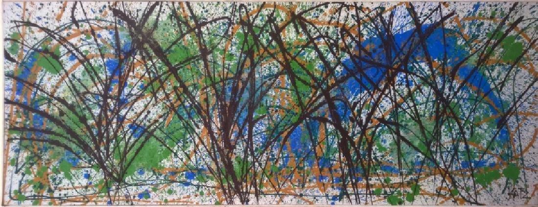 William Katz, Homage to Jackson Pollock, Oil Painting