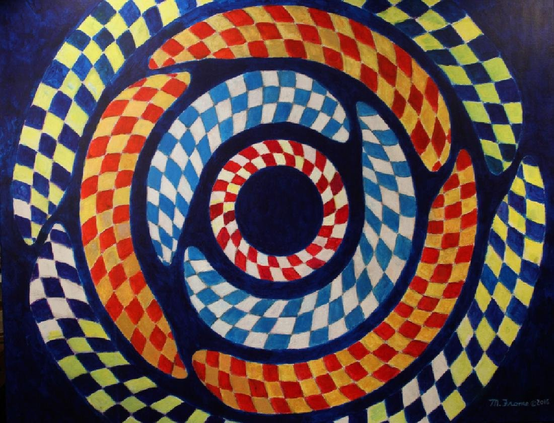 Mickey Frome, Concentric Circles of Thought, Acrylic