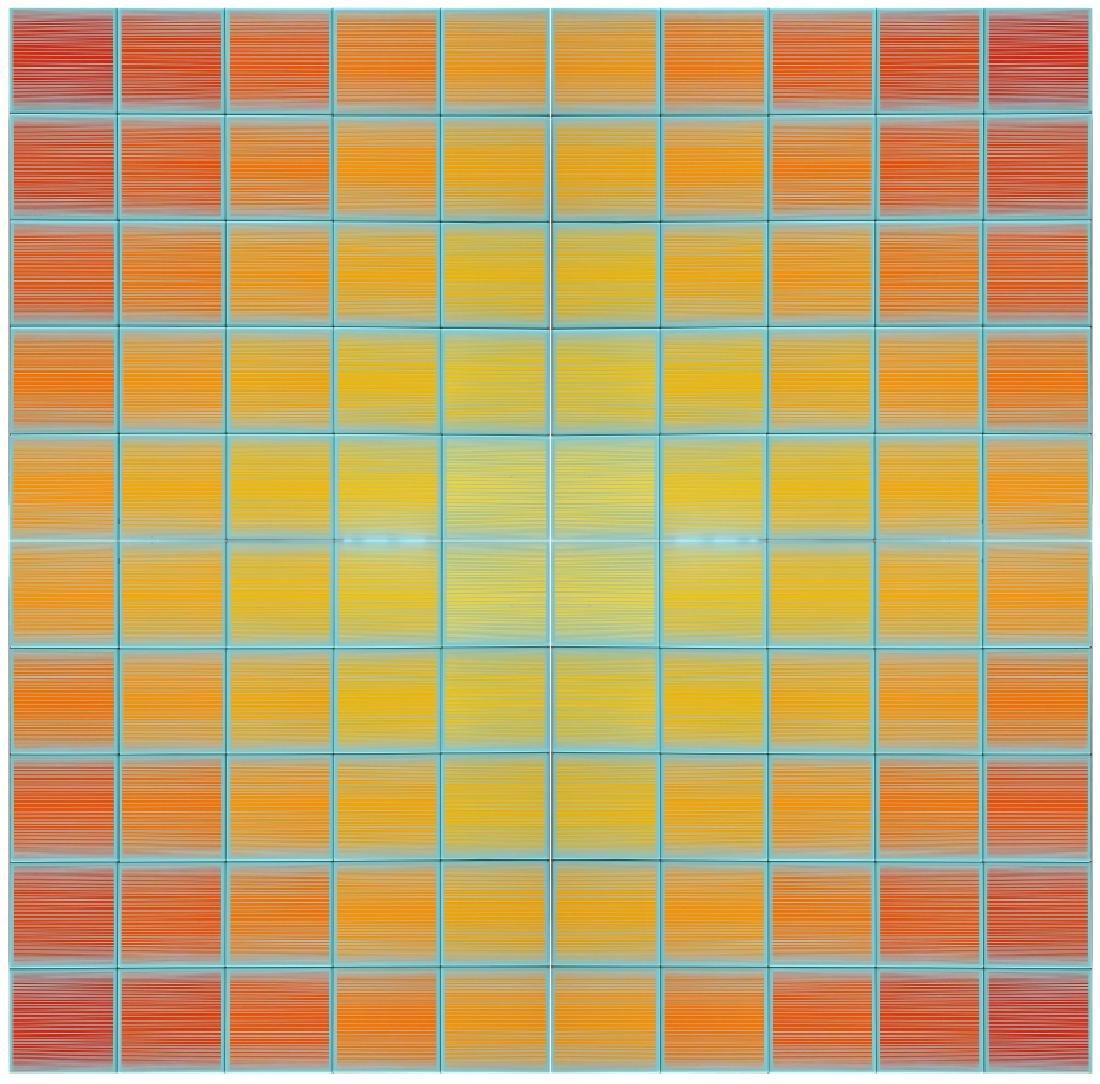 Richard Anuszkiewicz, Centum Tile A-D, Four Ceramic