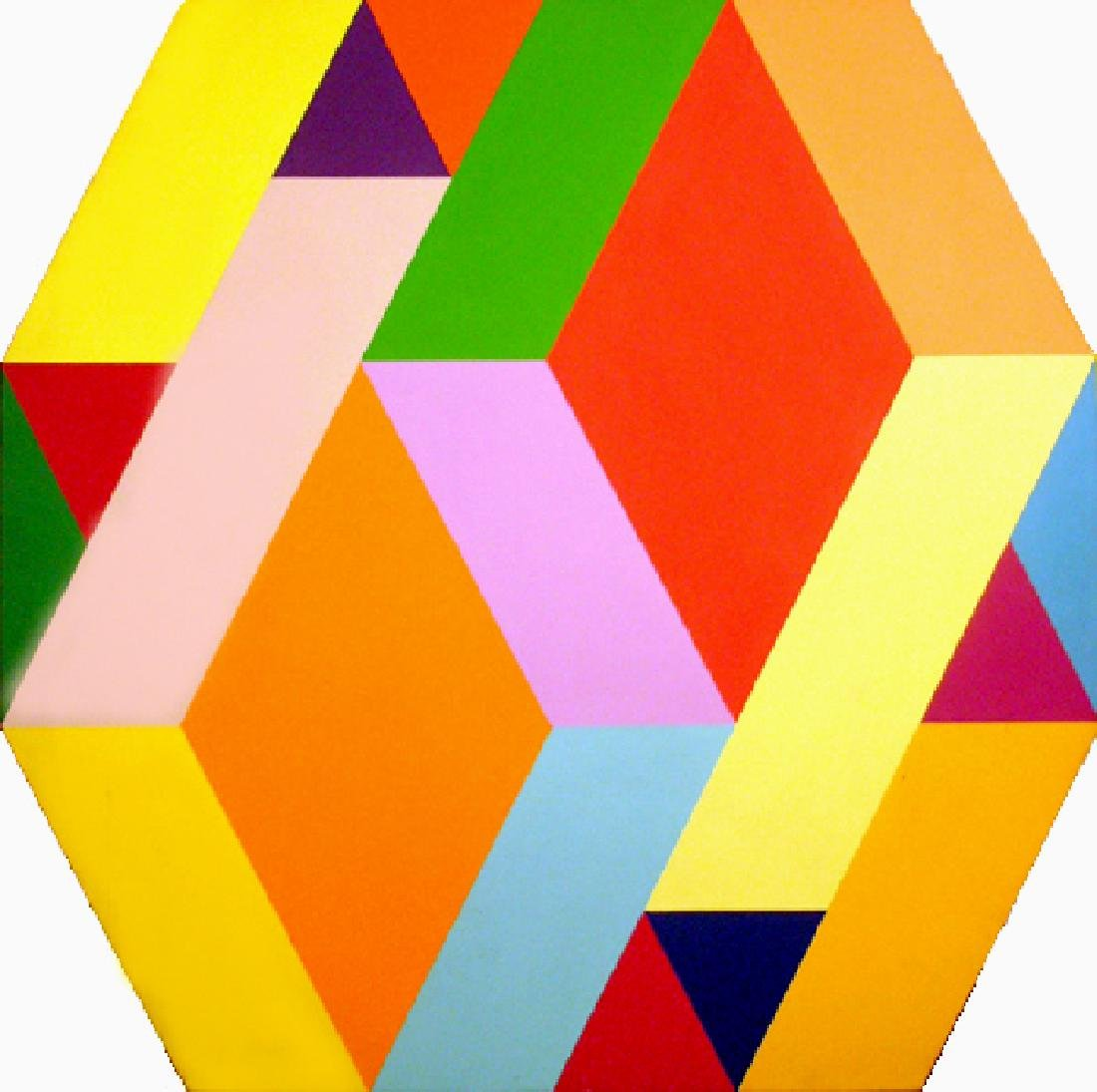 Arthur Boden, Diamonds, Acrylic Painting