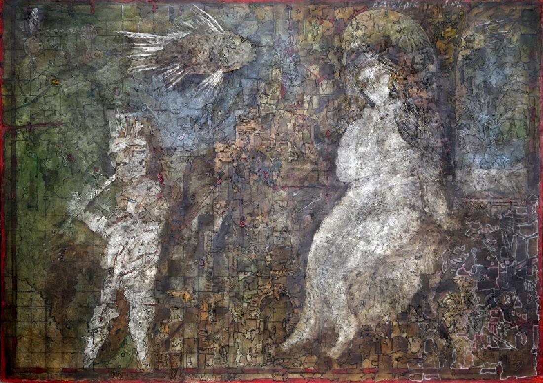 Vasily Kafanov, Nude Women & the Musician, Painting