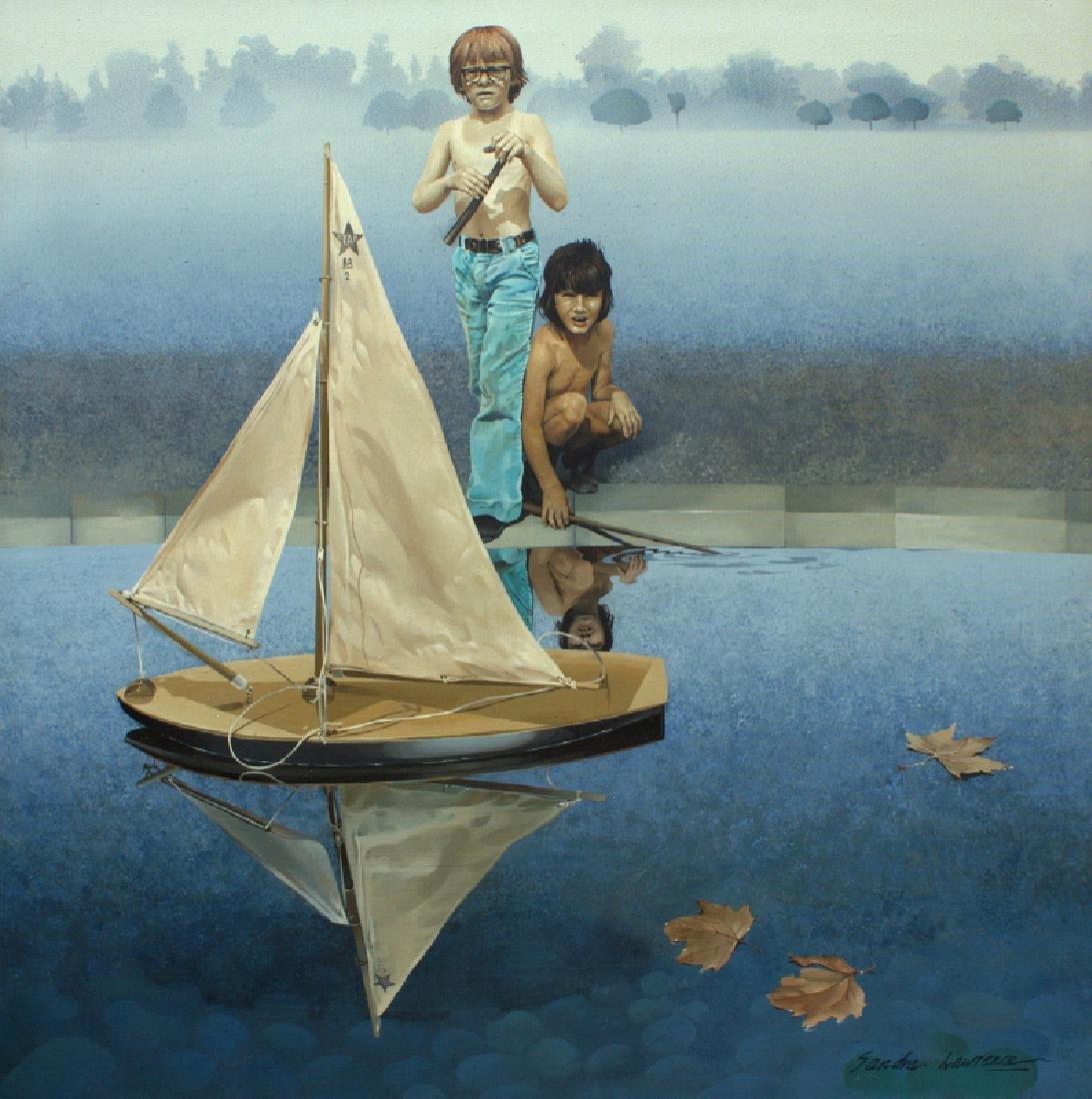 Sandra Lawrence, The Round Pond, Acrylic Painting