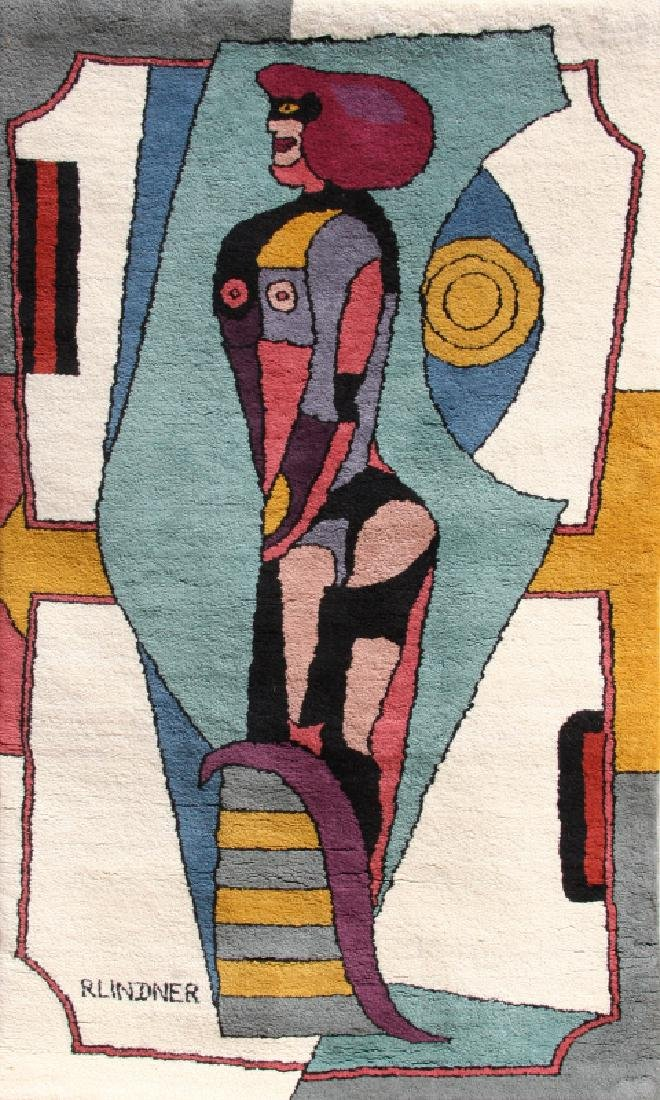 Richard Lindner, Earth Mother, Wool Wall-Hanging