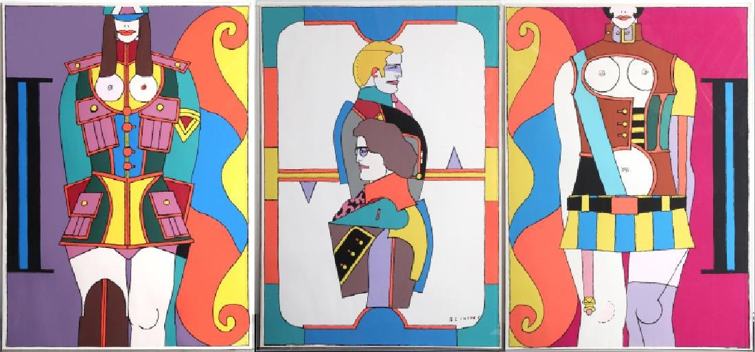 Richard Lindner, Fatal Stop, Triptych of Screenprints