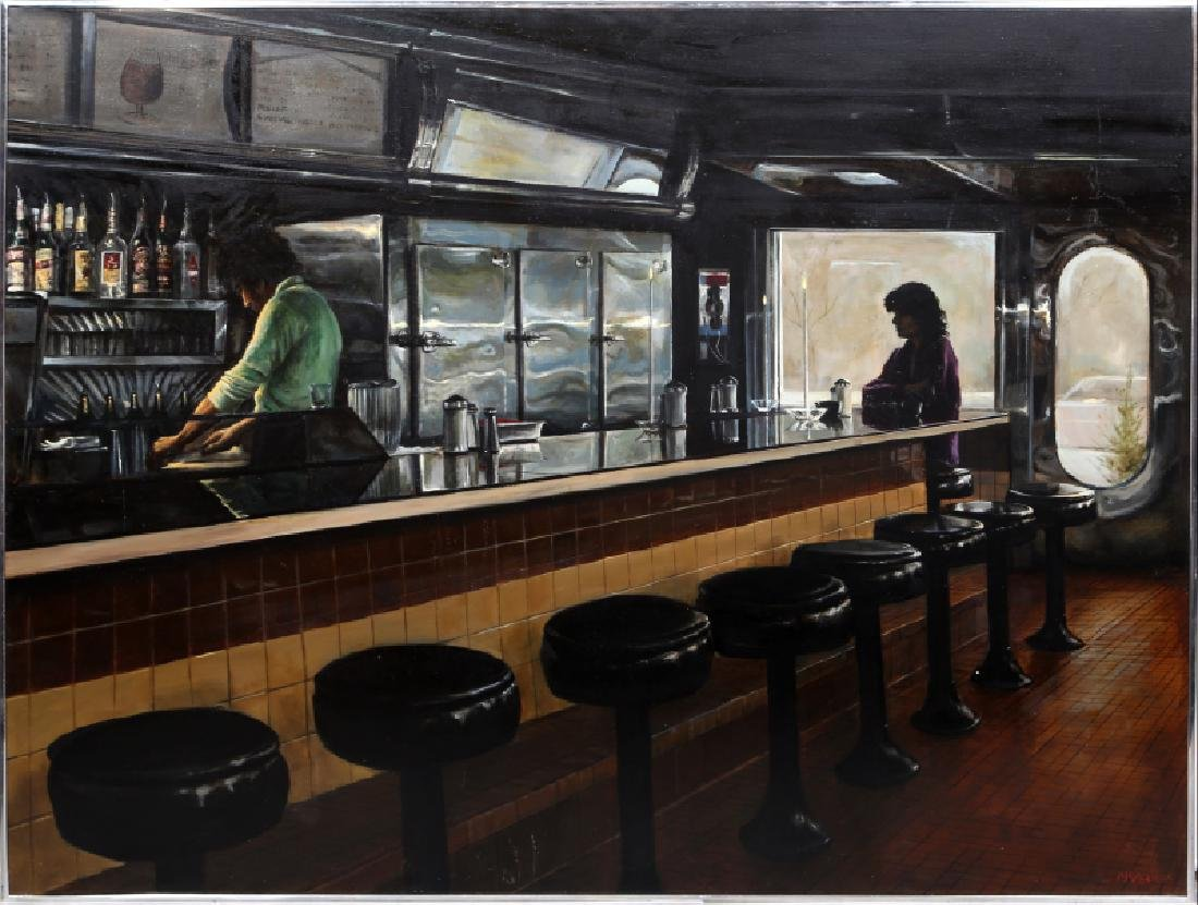Harry McCormick, Empire Diner, Oil Painting