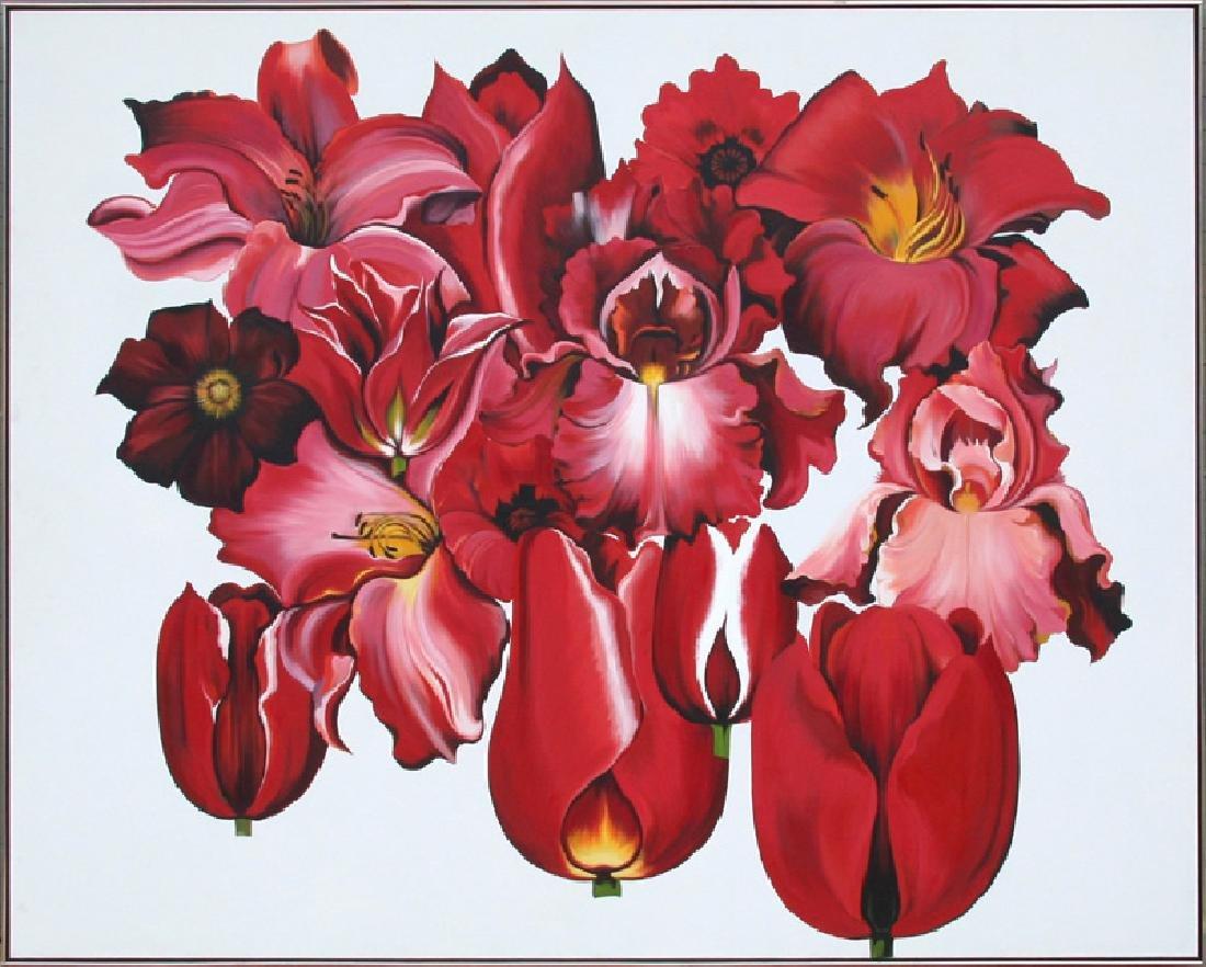 Lowell Blair Nesbitt, Island of Red Flowers, Oil
