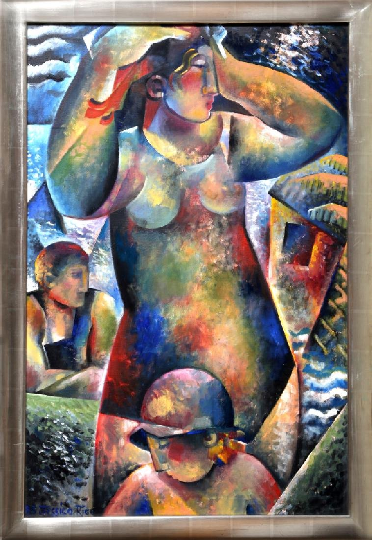 Jessica Rice, Bathers, Oil Painting