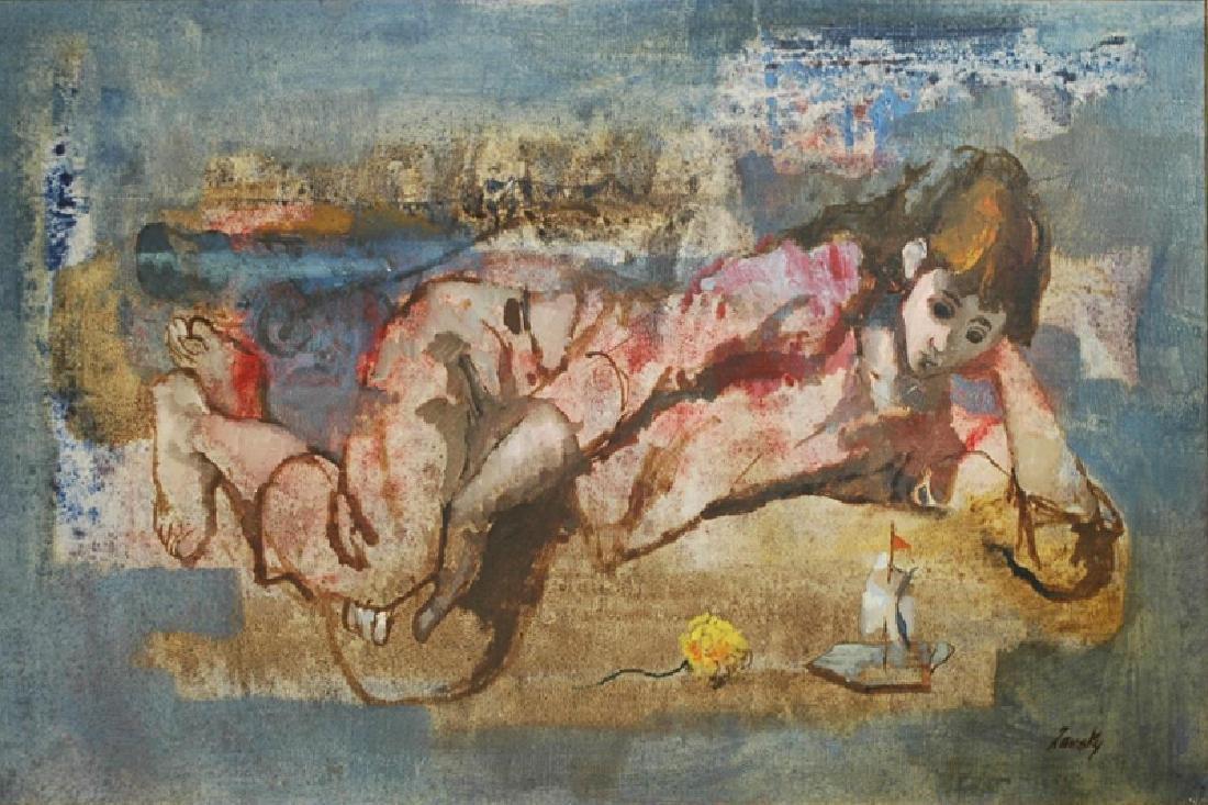 Lou Zansky, The Island, Oil Painting