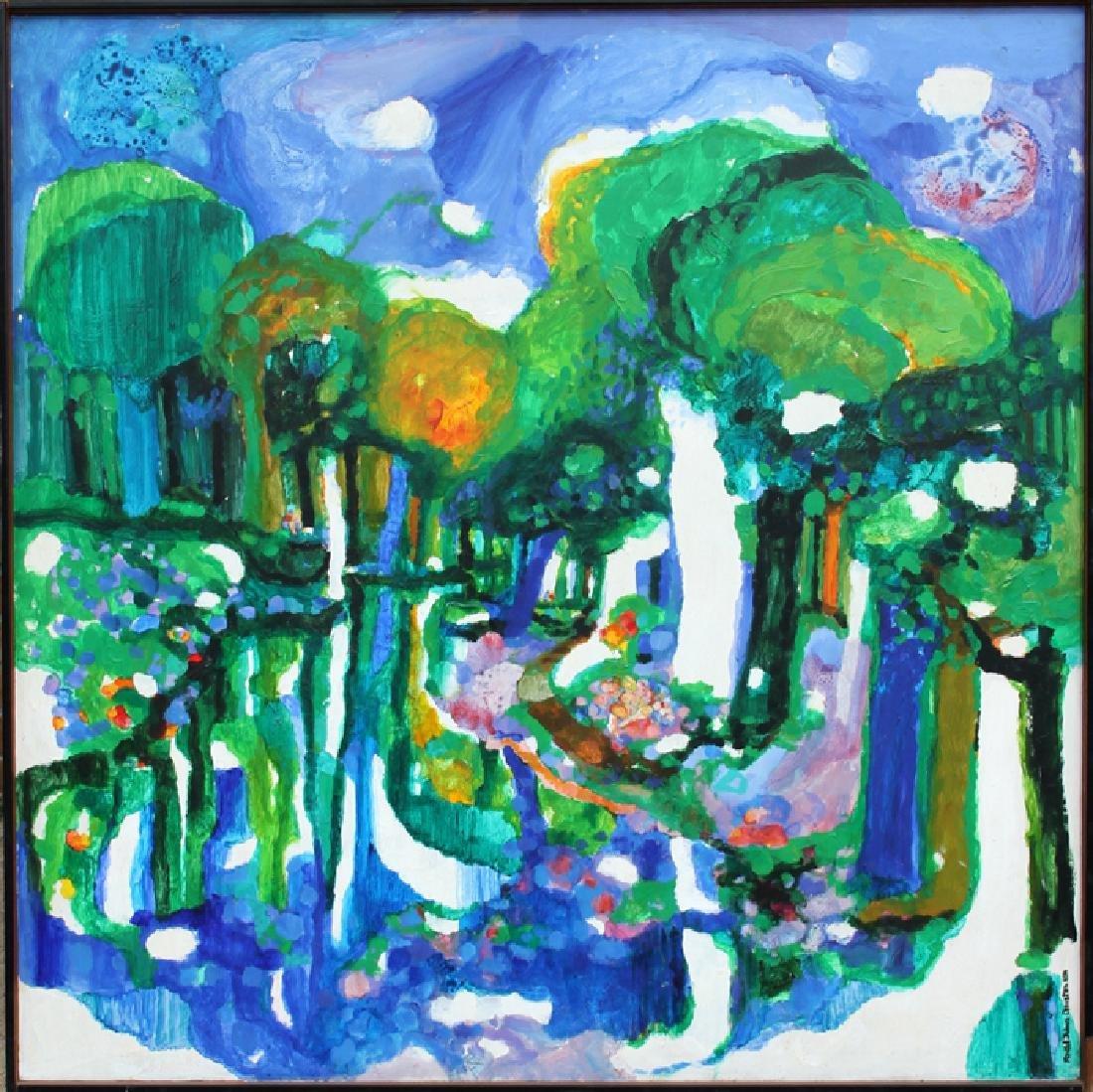 Ronald Julius Christensen, Path of Blues, Acrylic