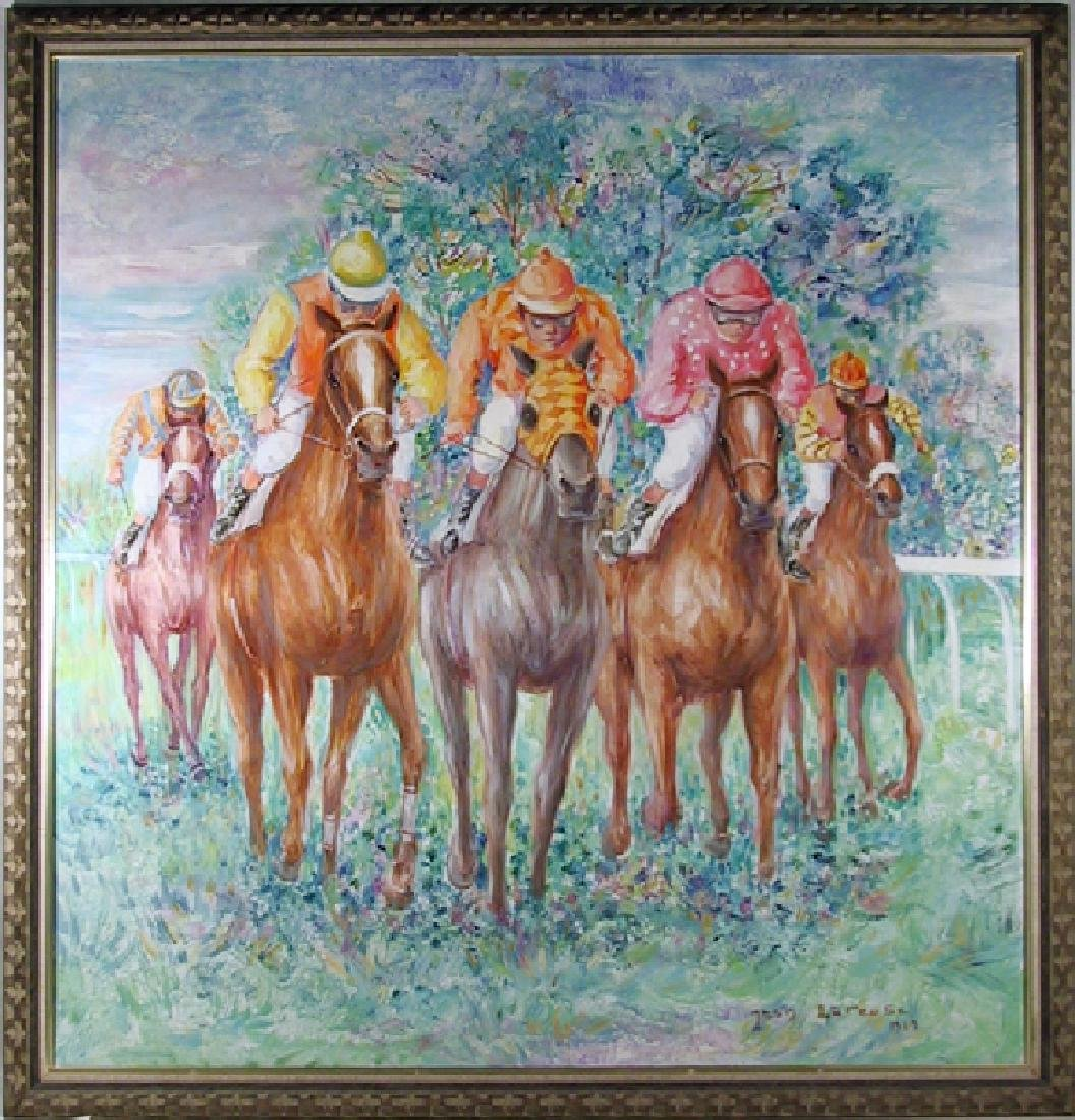Jean Lareuse, The Downs, Oil Painting
