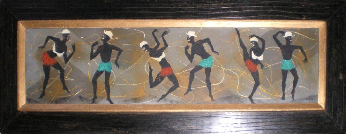 Edgar A. Stareck, African Dancers, Acrylic Painting