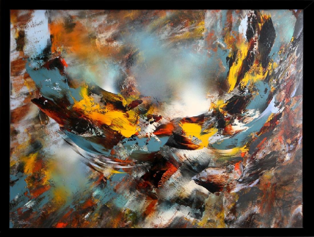 Leonardo Nierman, Viento de Otono, Oil Painting
