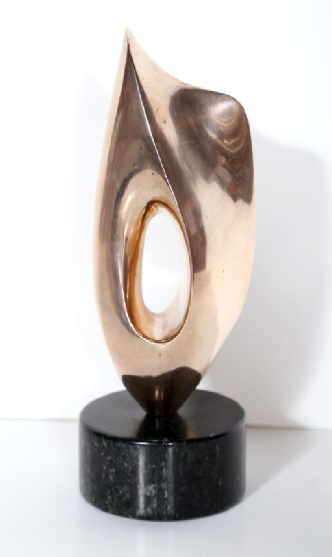 Antoine Poncet, Abstract Polished Bronze Sculpture