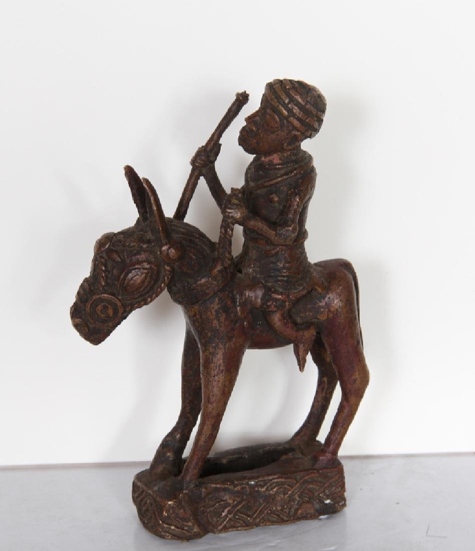 African, Benin, Horse and Rider, Bronze Sculpture