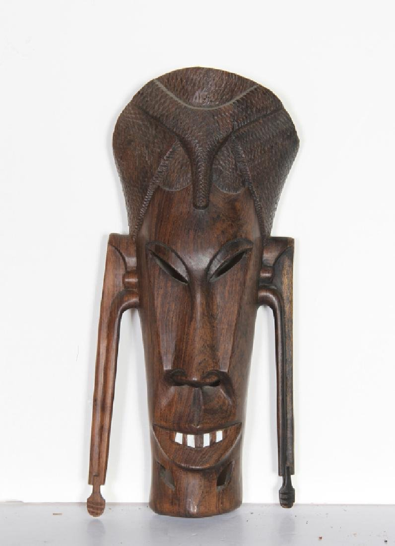 African, Mask with Teeth (30), Hand-Carved Wooden Mask