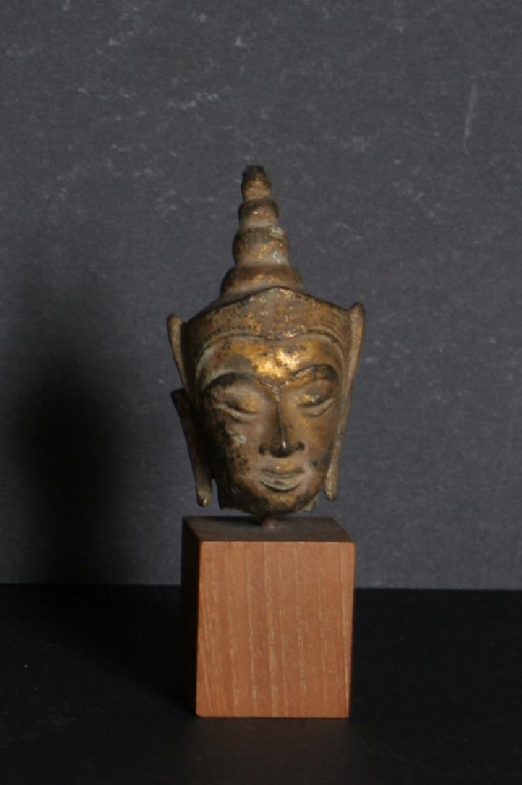 Artifact, Thai Goddess Head, Carved Stone Sculpture