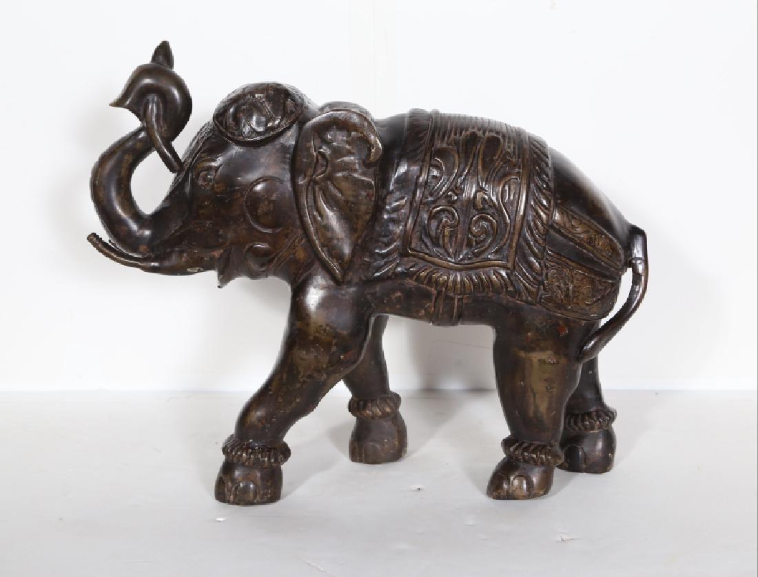 Indian, Elephant, Bronze Sculpture