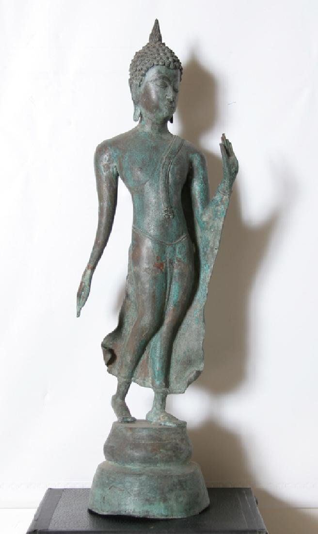 Thai, Standing Goddess, Bronze Sculpture