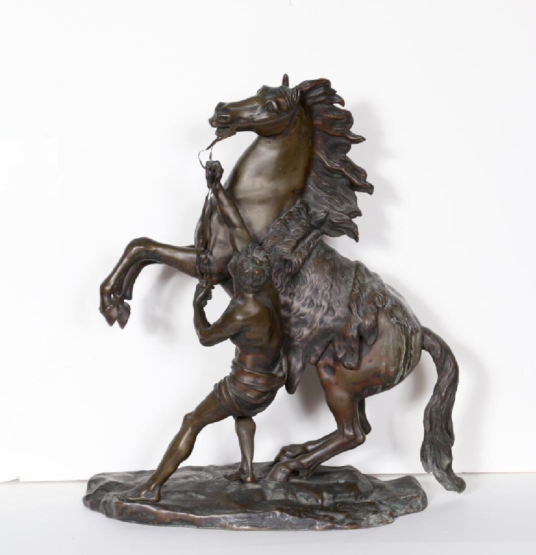 Guillaume Coustou, Cheval de Marly, Bronze Sculpture