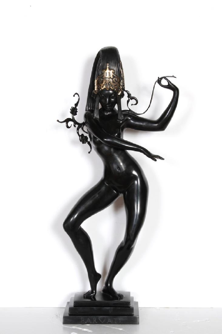 Allan Clark, Parvati, Gilded Bronze Sculpture
