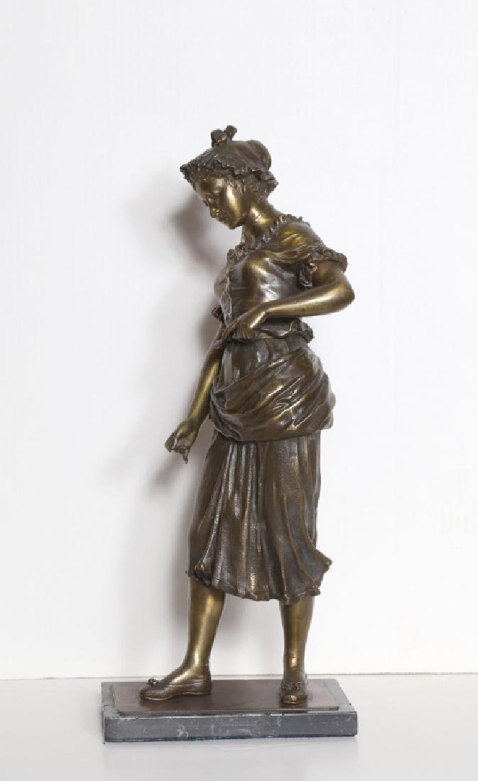 Hippolyte Moreau, Maiden, Bronze Sculpture