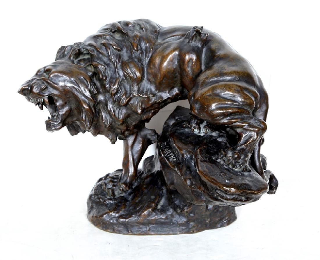 Thomas-Francois Cartier, Snarling Lion, Bronze