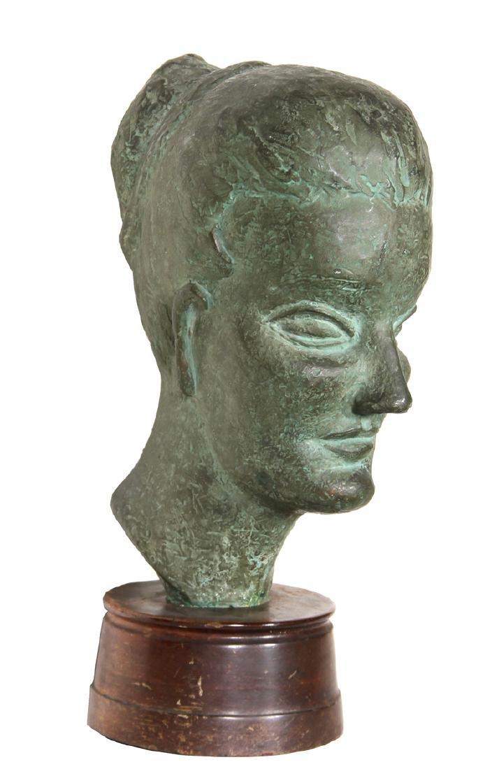 Ruth Gutman, Woman with Bun, Bronze Sculpture