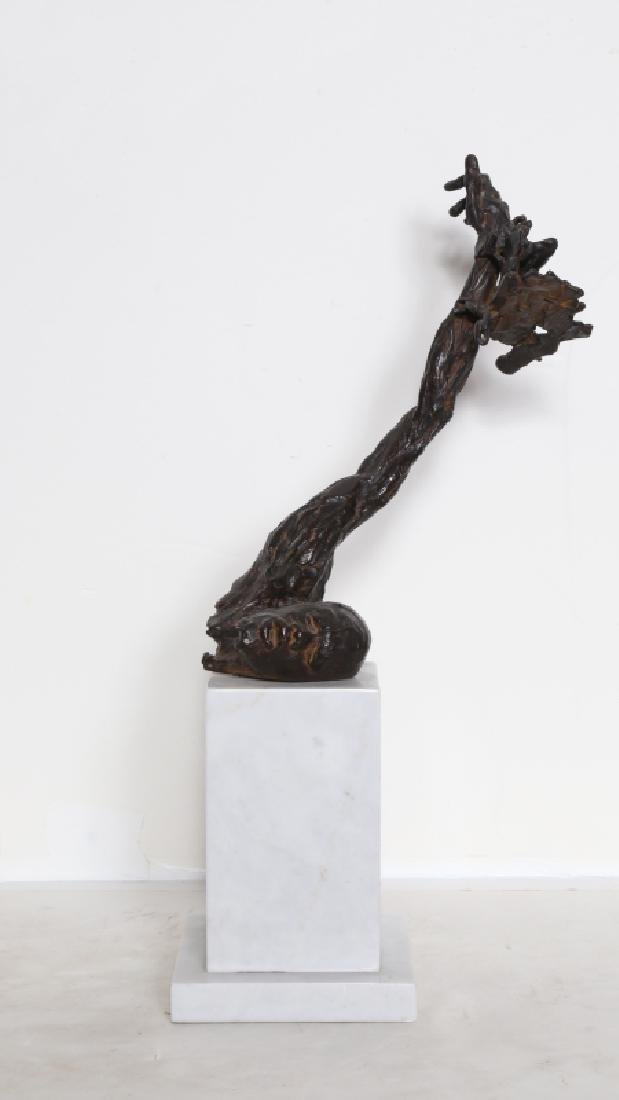 Stanley Bleifeld, Malcolm X in Chains, Bronze Sculpture