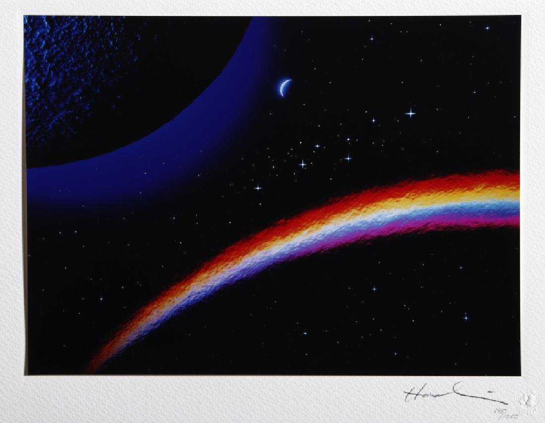 Hashi, Rainbow in Space, Color C-Print Photograph