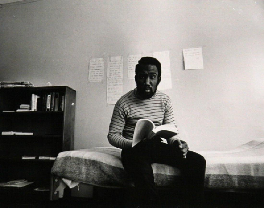 Donal Holway, Man Reading, Gelatin Silver Print