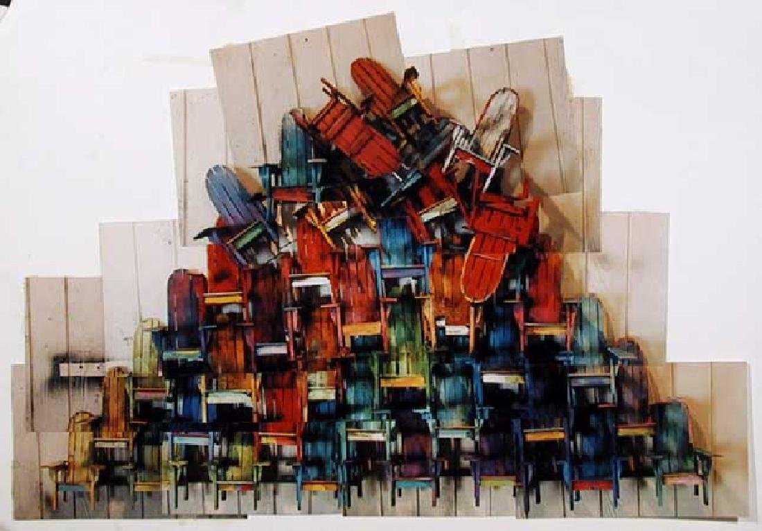 Paul Jacobsen, Adirondack Chairs 2, Photograph Collage