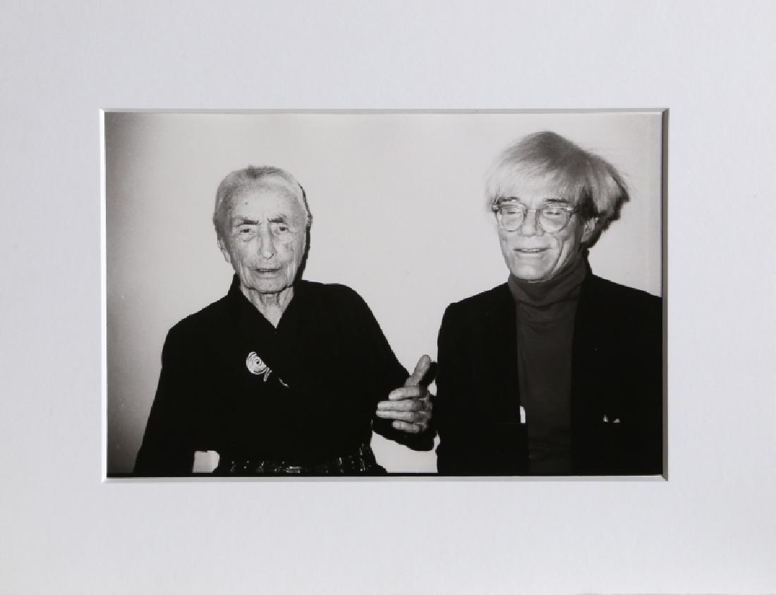 Christopher Makos, Andy Warhol and Georgia O'Keeffe,