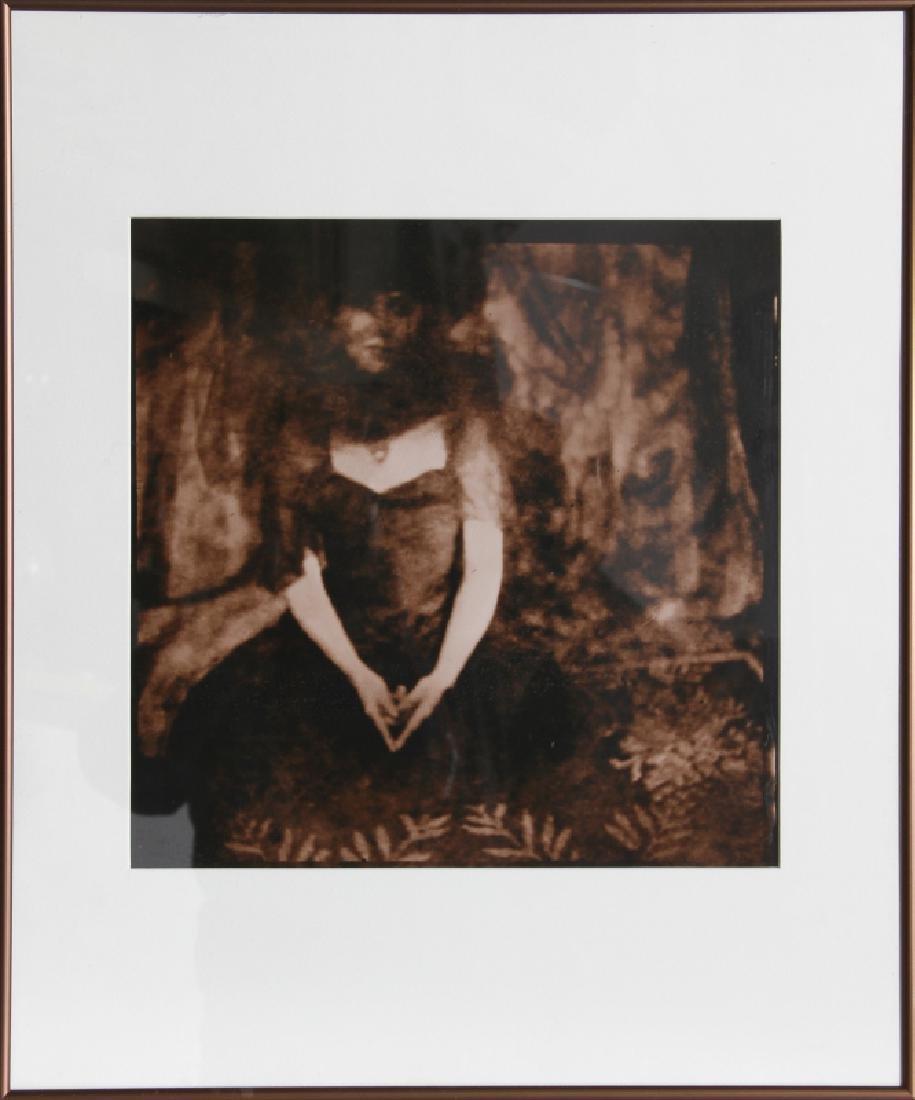 Emily Matyas, Veiled Woman, Sepia Tone Photograph