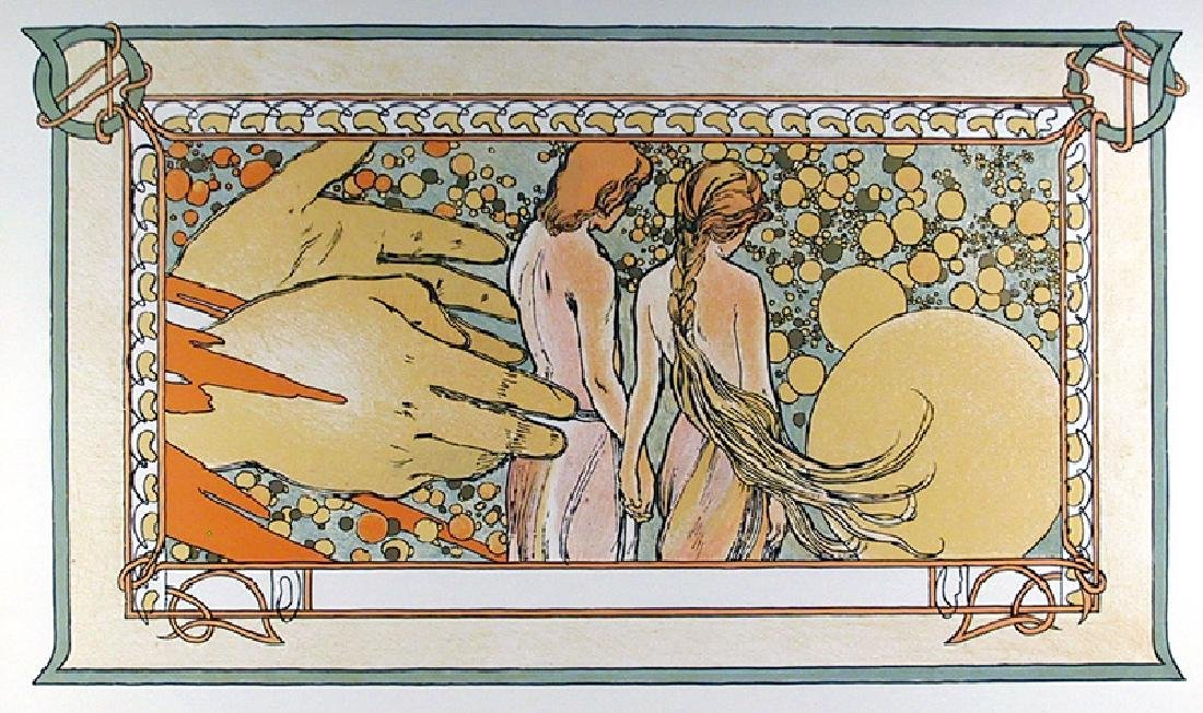 Alphonse Mucha, Hands of God, 71, Lithographic Poster