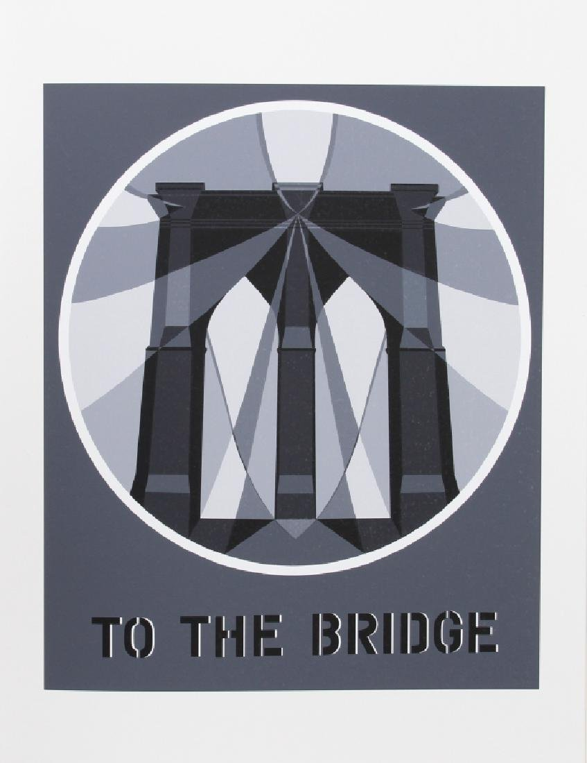 Robert Indiana, To the Bridge from the American Dream