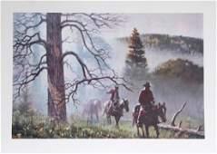 Duane Bryers, Mountain Fog, Lithograph