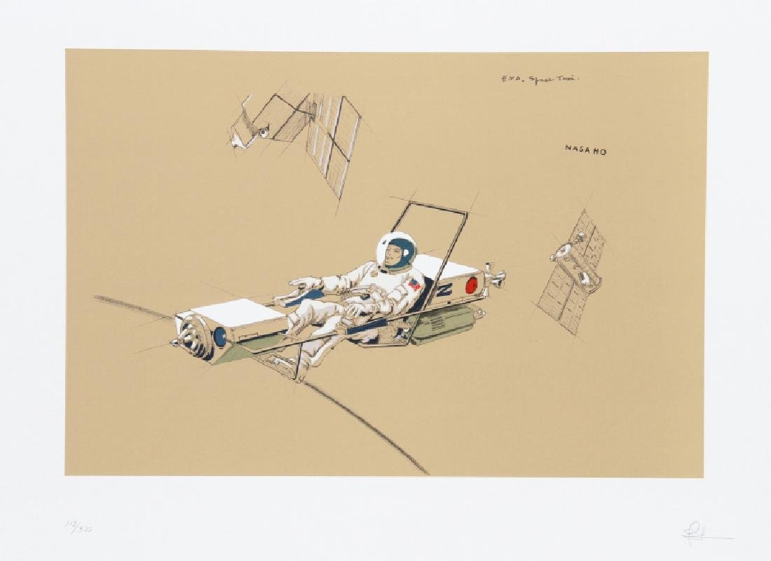 Raymond Loewy, Space Maintenance Taxi, Lithograph