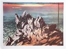 John Sherrill Houser, Sunset Seascape, Lithograph