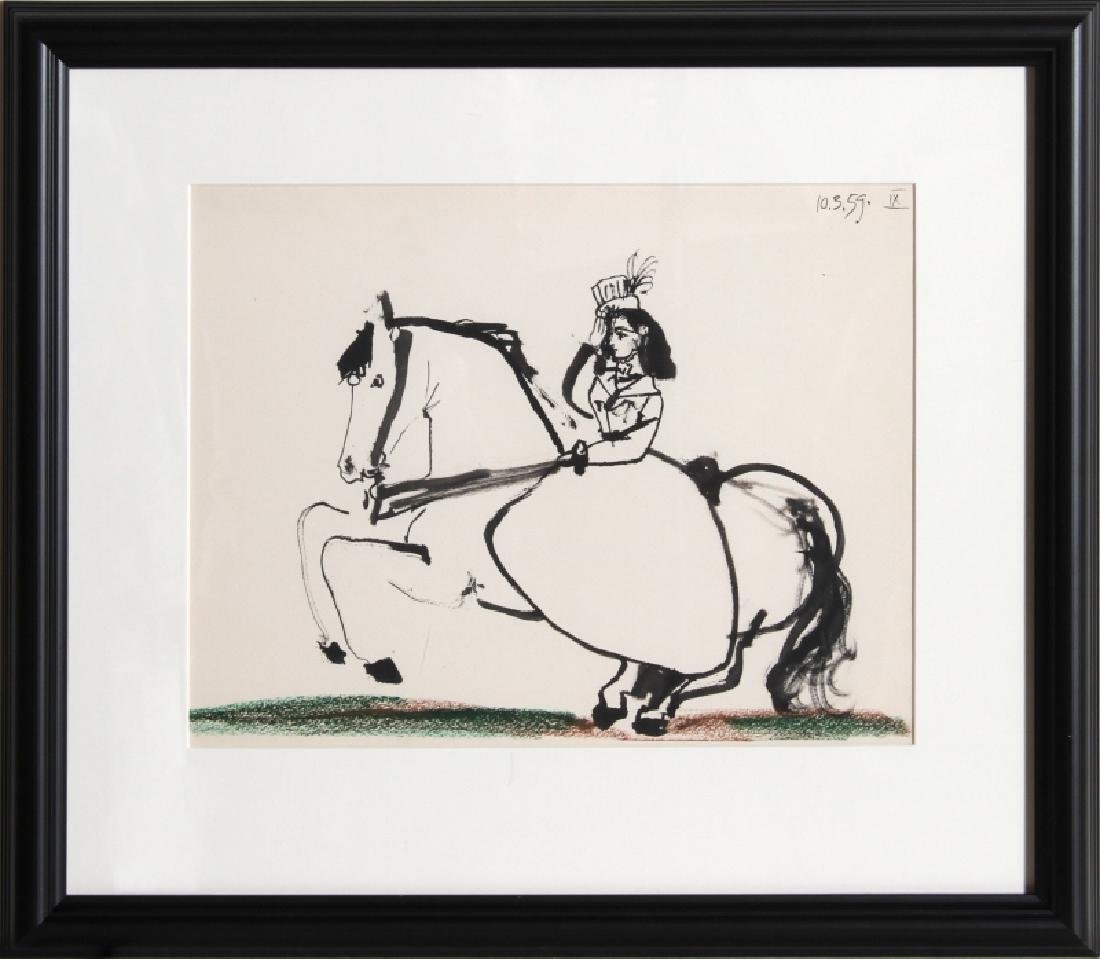Pablo Picasso, Woman on Horse 2, Lithograph
