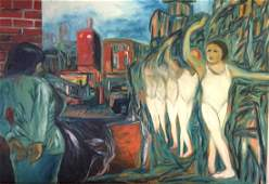 David Amico, Walking the Line, Oil Painting