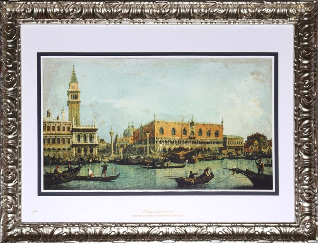 Francesco Guardi, Canal of San Marco with the Piazza