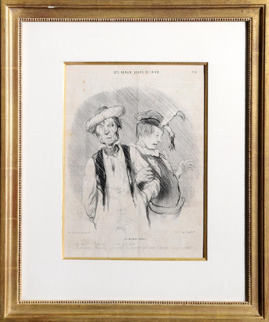 Honore Daumier, Le Mardi Gras from Les Beaux Jours de