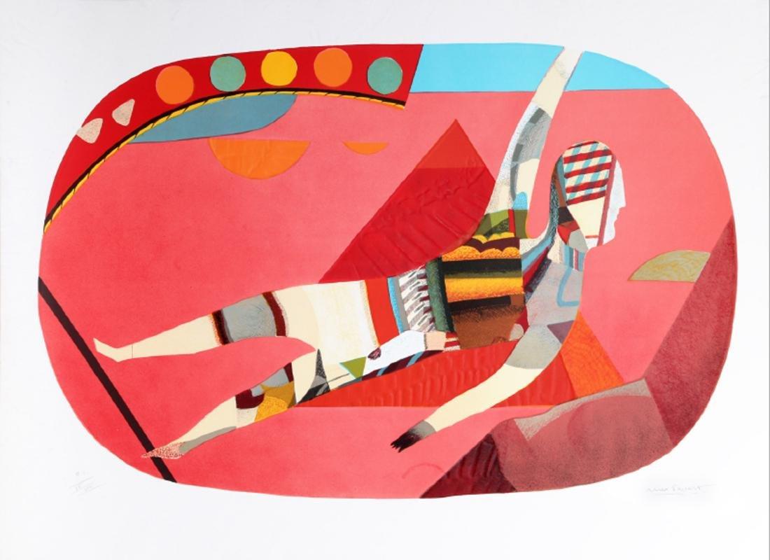 Max Papart, Acrobat, Aquatint Etching with Carborundum,