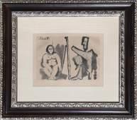 Pablo Picasso, Le Peintre et son Modele (Bloch 1133),