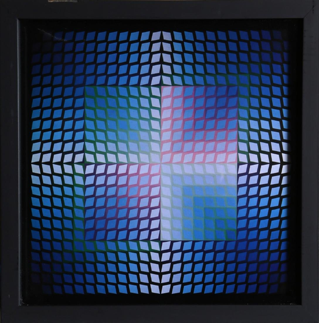 Victor Vasarely, untitled 6 from Progressions, Print on