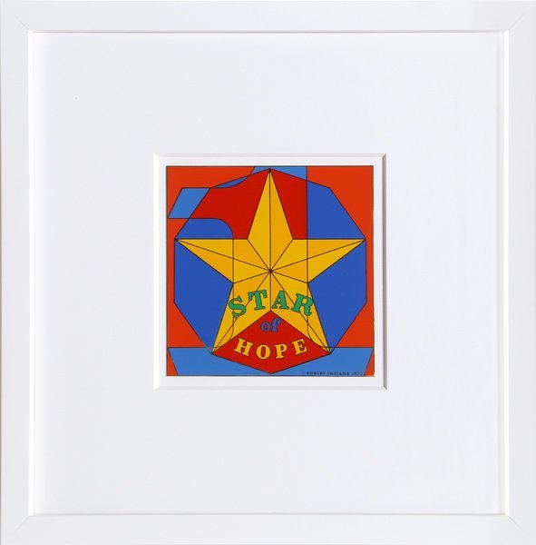 Robert Indiana, Star of Hope, Enamel on Metal