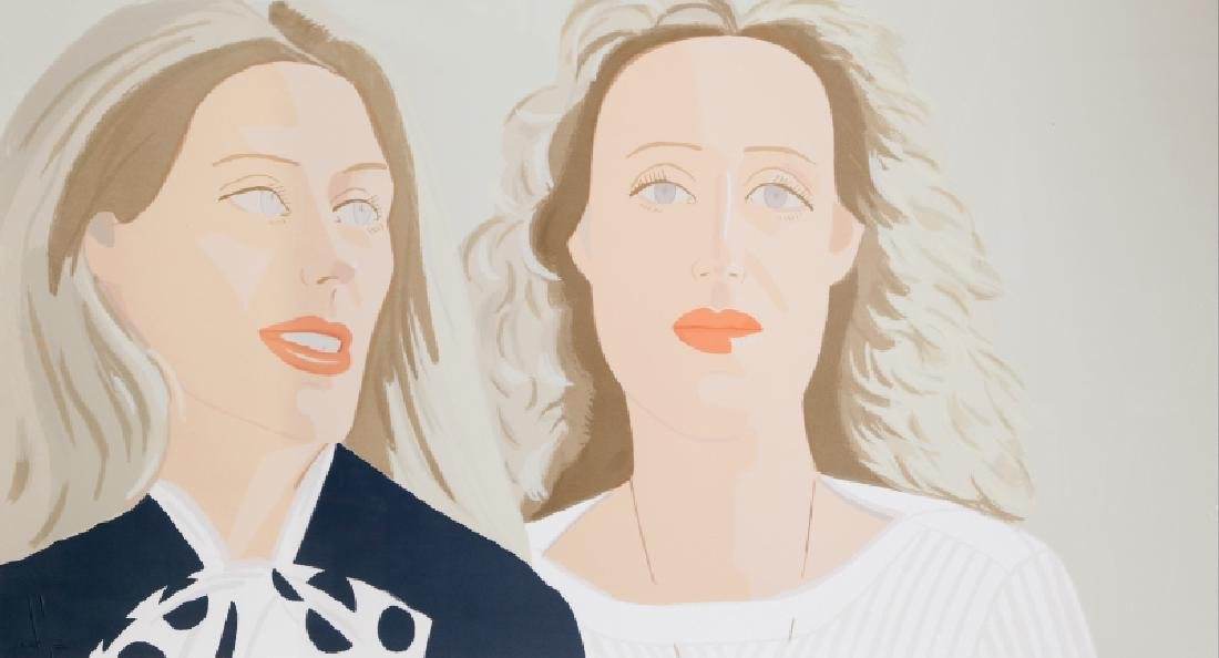 Alex Katz, Julia and Alexandra, Screenprint